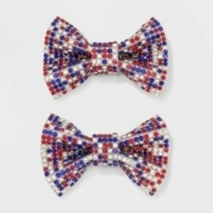 Cat & Jack Bow Hair Clip 2pc Set